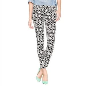 J. Crew Toothpick Black and White Skinny Jeans